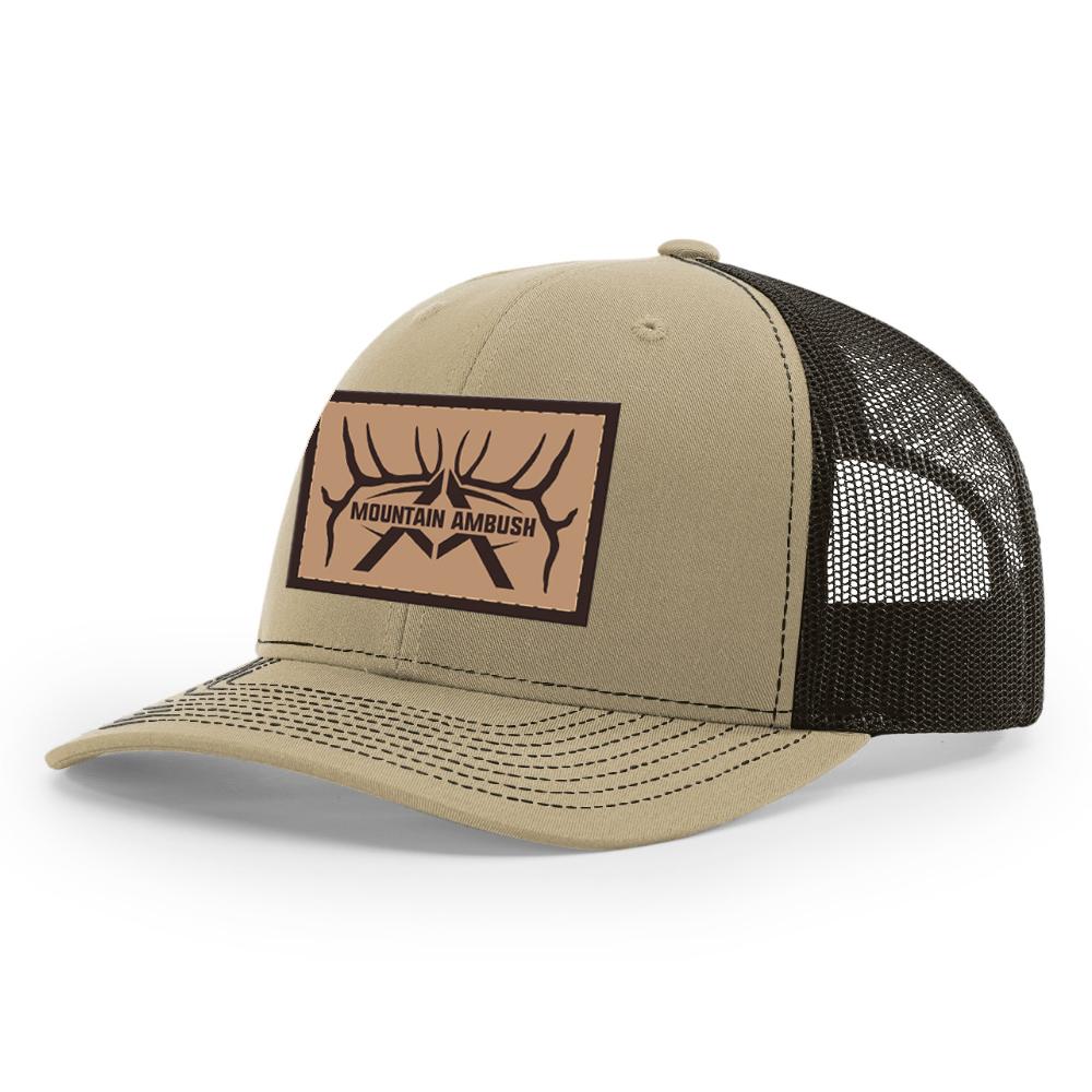 Mountain Ambush Trucker Hat w  Leather Patch H021 – Mountain Ambush 1dee18499b3